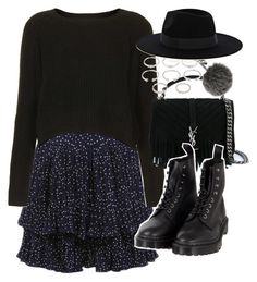 """""""Outfit for autumn with Dr Martens"""" by ferned on Polyvore featuring Topshop, Yves Saint Laurent, Dr. Martens, Forever 21, Fendi and Warehouse"""