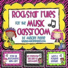 Rockstar Rules for the Music Classroom #music #rules #rockstar #classroom #musiced