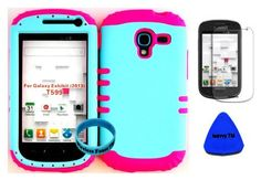 Hybrid Impact Rugged Cover Case Light Blue on Pink Skin for 2013 Release Samsung Galaxy Exhibit 4G T599 (Included: Screen Protector, Wristband and Pry Tool Exclusively By Wirelessfones TM), http://www.amazon.com/dp/B00GW4ZAMQ/ref=cm_sw_r_pi_awdm_lfU7sb15F9CQ7