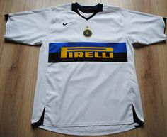 Inter Milan Football Shirt Adults Large Authentic Nike away kit 2005-2006 Italy
