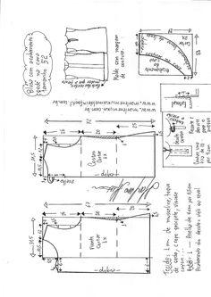 Sewing Blusas Patrón de una hermosa blusa de oficina para tamaños en euros del 36 al 56 (costura y corte) Dress Sewing Patterns, Blouse Patterns, Sewing Patterns Free, Clothing Patterns, Love Sewing, Sewing For Kids, Pattern Cutting, Pattern Making, Sewing Hacks