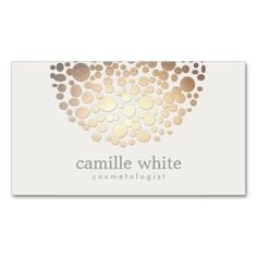 Modern Stylish Cosmetology Faux Gold Circles Business Card. This great business card design is available for customization. All text style, colors, sizes can be modified to fit your needs. Just click the image to learn more!