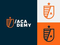 Academy Identity designed by Adam Trybuła. Connect with them on Dribbble; the global community for designers and creative professionals. Logo Desing, Branding Design, Sports Brand Logos, Language Logo, Academy Logo, Outdoor Logos, Lab Logo, City Logo, Education Logo