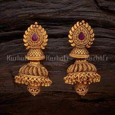 Jewelry Design Earrings, Gold Earrings Designs, Jewellery Designs, Designer Earrings, Necklace Designs, Fashion Earrings, Jhumka Designs, Fashion Jewelry, Gold Fashion