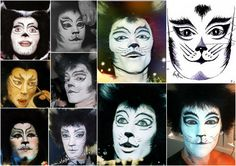 Mr Mistoffelees makeup references, various productions.