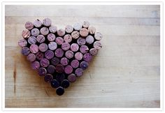 wine cork heart - perfect for all those red wine corks (of which I have many)