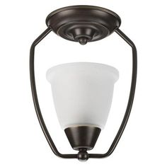 Progress Lighting  New Bedford Collection Antique Bronze 1-light Semi-flushmount $43.47 - These aren't horrible for the upstairs hallway??
