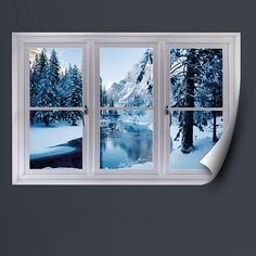 Faux Windows For Windowless Rooms Merced River In Winter Instant Window Removable