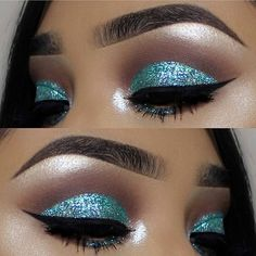 Eye makeup goals!✨ @vemakeup713 so stunning with Sparkling Powder in [Mystic Wave]✨ #jcatbeauty #sparkling #glitter #makeupjunkie