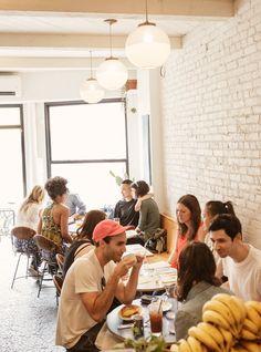 breakfast or brunch! Breakfast Restaurants, Small Restaurants, York Restaurants, Small Restaurant Design, Restaurant Interior Design, Restaurant Bar, Lunch Cafe, Healthy Cafe, Lunch Places