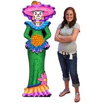 6 ft. Day of the Dead Catrina Standee