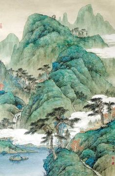 Chinese painting pinned with Bazaart