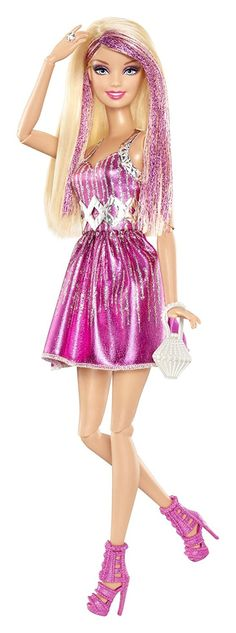 Barbie Fashionistas Barbie Doll - Pink and Silver Dress, Toys & Games - Amazon Canada