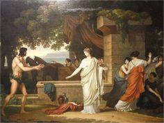 Louis Gauffier, Ulysses and Nausicaa, 1798 Nausicaa, Homer Odyssey, Art Magique, Mycenae, Art Base, Romanticism, Greek Mythology, Tags, Animal Crossing