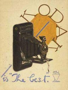 Kodak, by İhap Hulusi Görey (Turkish, Old Cameras, Turkish Art, Old Ads, Painting Lessons, Illustrations And Posters, Media Design, Creative, Photography, Inspiration