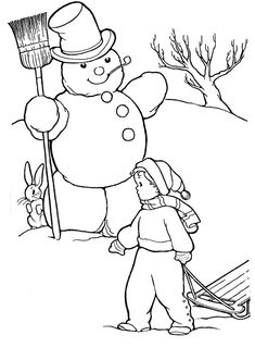 January Coloring Book Page