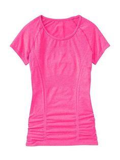 Athleta Fastest Track Tee Shocking Pink Heather Sz M   eBay