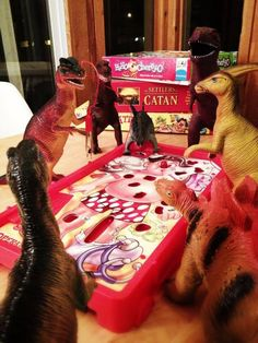 """More photos from Dinovember.  (""""Every year, my wife and I devote the month of November to convincing our children their plastic dinosaur figures come to life..."""") :):"""