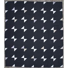 black & white quilt by Maura Ambrose | Folk Fibers:  Twelve Quilts exhibit