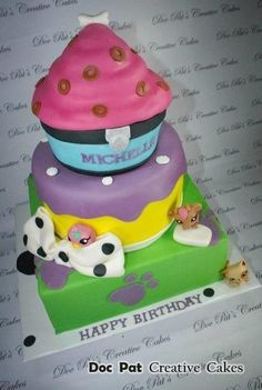 Littlest Pet Shop Themed Cake  Cake by DocPatCakes
