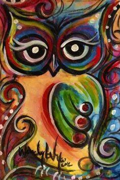 owl painting on canvas Owl Art, Bird Art, Diy Painting, Painting & Drawing, Peacock Painting, Pinterest Arte, Painting Inspiration, Art Lessons, Canvas Art