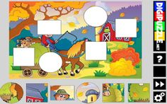 PUZZLES educativos GRATIS: KINDER autum