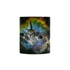 New Style Funny Space Galaxy Nebula Cat Mug for Coffee/Hot Beverage/Tea Cups - Best Gift for Valentine's Day,Birthday,Anniversary,Christmas or New Year -- Additional details at the pin image, click it  : Cat mug