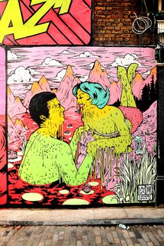 Incredibly Colourful Art from the Streets of London - by artists Unga & Tant (Broken Fingaz)