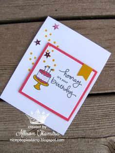 Endless Birthday Wishes Would be cute using CTMH You Are My Happy stamp set