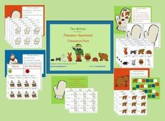 The Mitten: Phonemic Awareness Companion Pack - Jennifer Shamberger - TeachersPayTeachers.com