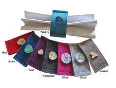 Serviettenringe als Blickfang Ihrer Tischdekoration – in verschiedenen Farben - Filztasche kaufen - Filztaschen von margritli country style
