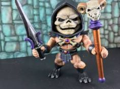 What good is an Evil He-Man without a heroic Skeletor?  Again, straight repaint of The Loyal Subjects Skeletor.  Thanks for looking, and if you like these, keep an eye out because there are more to come!