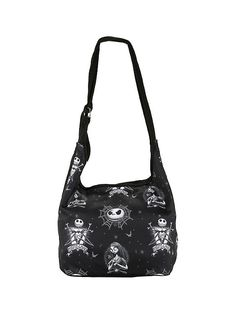 The Nightmare Before Christmas Tattoo Print Hobo Bag,