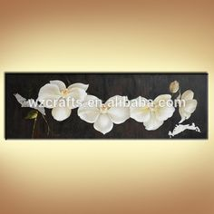 Source Beautiful Butterfly Orchid Flower Oil Painting for Wall Decoration on m.alibaba.com