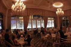 Jasmin's at The Bellagio, surrounded on three sides by windows and the fountains!