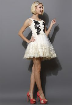 Floral Embroidery Prom Tulle Dress - New Arrivals - Retro, Indie and Unique Fashion