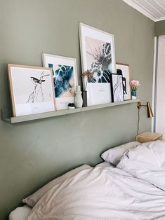 Jotun Lady, Pretty Bedroom, Room Tour, Ikea Hack, Floating Nightstand, Room Inspiration, Building A House, Interior Decorating, Room Decor