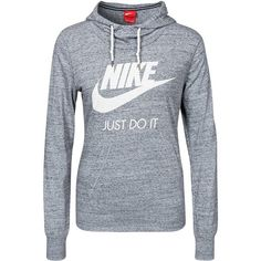 Nike Gym Vintage Hoody ($83) ❤ liked on Polyvore featuring tops, hoodies, carbon, jumpers & cardigans, womens-fashion, hooded pullover, hooded sweatshirt, sweatshirts hoodies, nike tops and nike