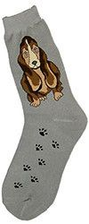 Floppy ears and dozy eyes gaze adorably from these socks, perfect for the hound lover. Content: 65% cotton, 15% nylon, 15% polyester, 5% spandex. Fits women's shoe sizes 4-10.