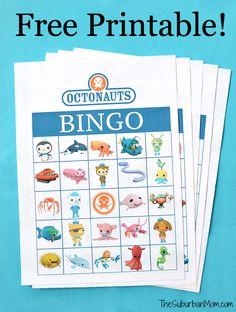 Octonauts Birthday Party Free Printable Bingo Game - TheSuburbanMom