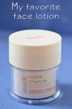 A shine-reducing face lotion with a matte finish - leave your face flawless, not greasy at TidyMom.net