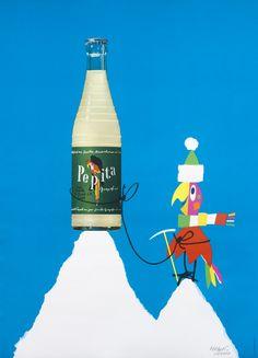 Herbert Leupin poster: Pepita (snow peak)