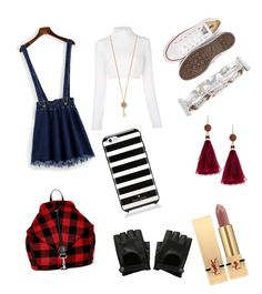 """""""Untitled #26"""" by olivia-nehir on Polyvore featuring Balmain, Aéropostale, Hipanema, Boohoo, Kate Spade, Converse and Yves Saint Laurent"""