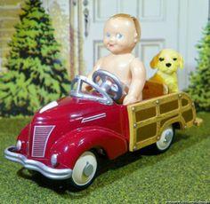 Renwal Baby Doll with Hallmark Garton Woody Wagon Kiddie Car Vintage Dollhouse   eBay