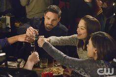 """Beauty and the Beast -- """"Destined"""" -- Image Number: BB313a_0026.jpg -- Pictured (L-R): Jay Ryan as Vincent, Kristin Kreuk as Catherine and Nicole Gale Anderson as Heather -- Photo: Ben Mark Holzberg/The CW -- © 2015 The CW Network, LLC. All rights reserved."""