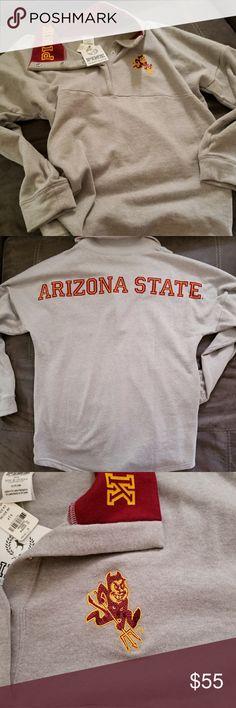 Pullover PINK-Colligiate Collection Arizona State University Oversized PINK Tops Sweatshirts & Hoodies