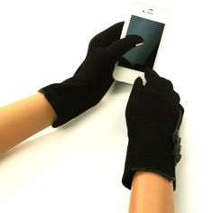 Ladies Winter Fancy Bows Dressy Wool Magic Touch Screen Thumb Index Gloves Black, http://www.amazon.com/dp/B00A529TI2/ref=cm_sw_r_pi_awd_cCnisb0M1WBVA