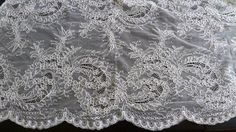 Alencon Lace  in Off White Silk White for Bridal by MaryNotMartha, $68.00