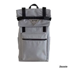 Canvas Roll Top Backpack w/ Laptop Sleeve (different colours) This bag boasts an extra 11 inches of fabric over the rucksack allowing you to roll and unroll at a moments notice. Bag includes cargo straps that allow for additional carrying capacity - Perfect Gift for a Traveller! | Curated by The Travel Tester on Zazzle: