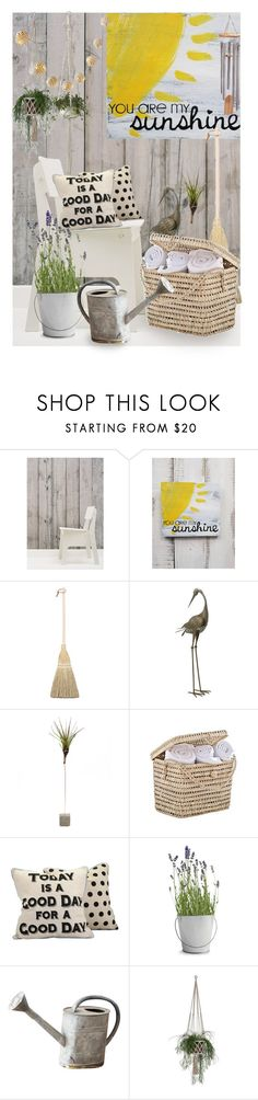 """YOU ARE MY SUNSHINE"" by irina-demydovych ❤ liked on Polyvore featuring interior, interiors, interior design, home, home decor, interior decorating, NLXL, Potting Shed Creations and PBteen"